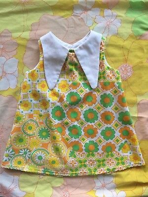 Vintage 1960's style Hun and Bun floral mod baby dress