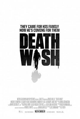 DEATH WISH great original D/S 27x40 movie poster (s001)