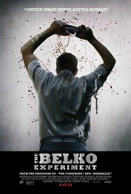 THE BELKO EXPERIMENT great original 27x40 D/S movie poster (s001)