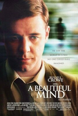 A BEAUTIFUL MIND great original 27x40 D/S movie poster 2001 LAST ONE (s001-cb)