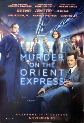 MURDER ON THE ORIENT EXPRESS great original 27x40 D/S movie poster (s001)