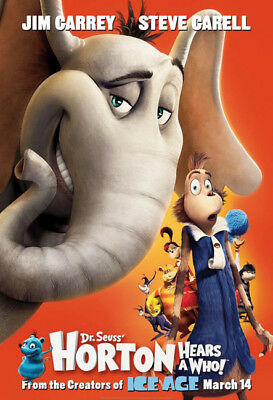HORTON HEARS A WHO great original 27x40 D/S movie poster (s01)