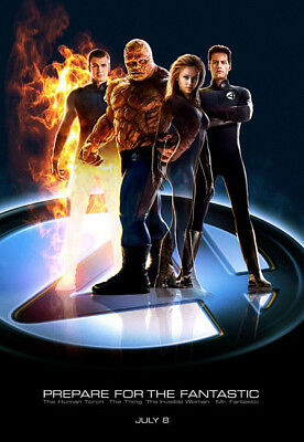 FANTASTIC FOUR great original 27x40 D/S movie poster 2005 (s03)