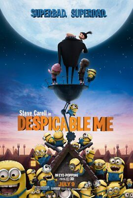 DESPICABLE ME great original 27x40 D/S movie poster 2010 (s01)