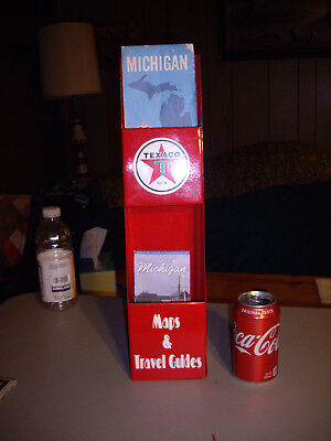Vintage Texaco Gas Station Metal Map Holder Sign W Maps Touring Service MAN CAVE
