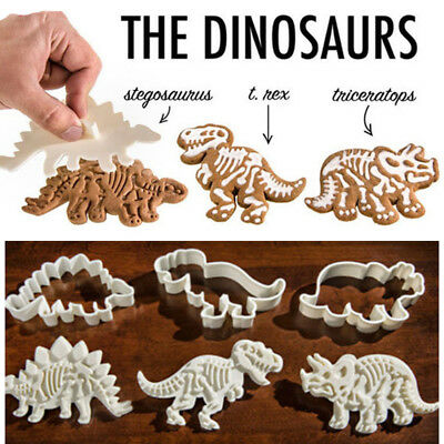 1/3Pcs Dinosaur Plunger Cookie Cutter Biscuit Pastry Cake Baking Mould Mold Tool