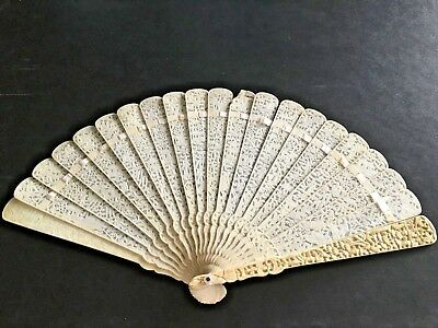 Rare 19Th Century China Imperial Qing Handmade Export Fan Eventail
