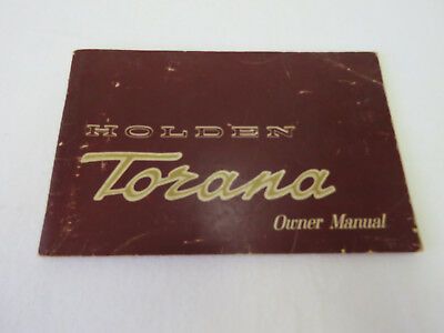 A2 - Holden Torana Lc Or Lj 1971 Ower Manual Booklet
