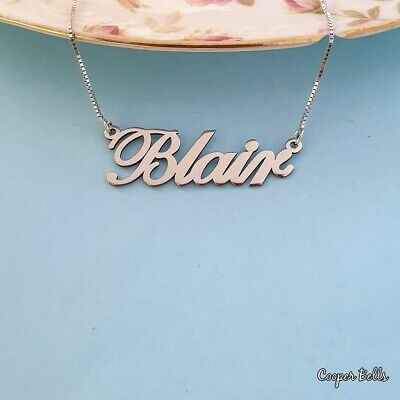 Silver Name Necklace, Order Any Name!! Necklace with your name on it! Christmas