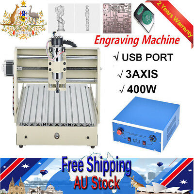 Power Cable Plug USB Port 3040T CNC ROUTER 3D ENGRAVING CUT DRILL MILL MACHINE
