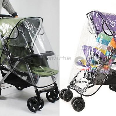 Practical Waterproof Rain Cover Wind Dust Shield For Baby Strollers Pushchairs