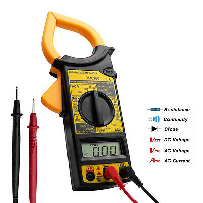 LCD Digital MultiMeter Current Circuit Tester AC DC Volt Amp Reader  Checker New