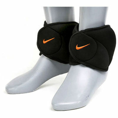 Nike Ankle Weights 2.27kg - Black/Orange Strength Training Workout Fitness Gym