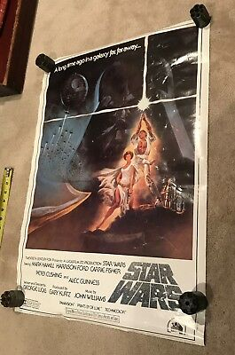 Star Wars Movie Rolled Insert Mini Movie Poster Dated 1977 1982 vintage 20X27