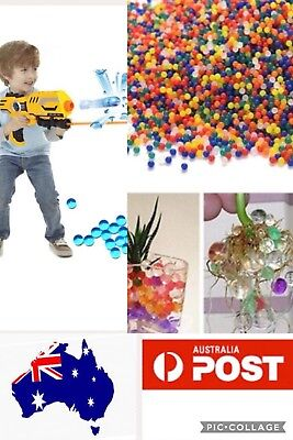 2000+ Mix Colours Orbeez Ball Bio Hydro Gel Water Beads Plant Bullet Toy Gun