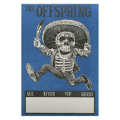 The Offspring authentic concert tour satin Backstage Pass VIP blue