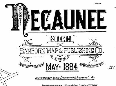 Negaunee, Michigan~Sanborn Map© sheets with 38 maps made 1884 to 1911 on a CD