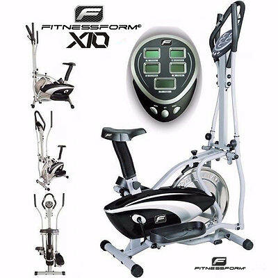 Fitnessform® ZGT® X10 Cross Trainer 2-in-1 ✮Fitness Elliptical Exercise Bike ✮