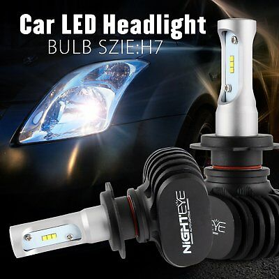 Nighteye 50W 8000LM LED Headlight Kit H7 Low Beam Bulbs 6500K White All-In-One