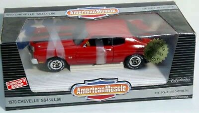 ERTL 1/18 1970 Chevy Chevelle SS 454 LS6 RED Cannadays #7870 American Muscle NEW