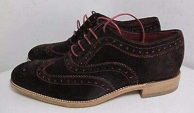 Loake Fearnley Brown /Red Suede Brogue Shoe 7 F - Slight Seconds RRP £165 (3205)