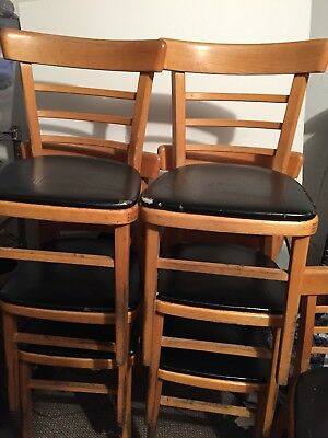 20 USED Wood Upholstered Cafe Chairs LOT