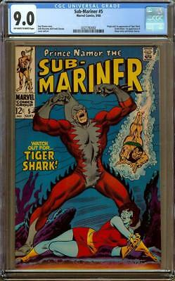 Sub Mariner #5 CGC 9.0 OW/W Pages - Origin And 1st Appearance Of Tiger Shark