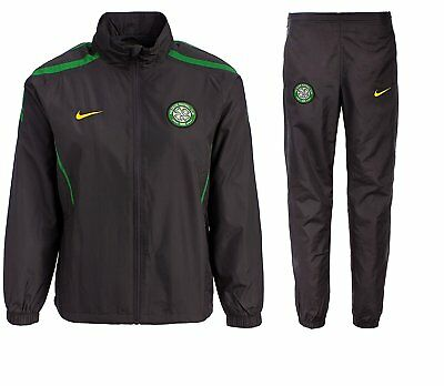 Celtic FC Junior Boys Girls Nike Training Full Zip Tracksuit Kids Top Bottoms