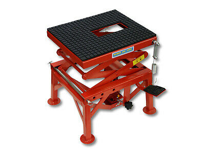 300lb 135kg Hydraulic Motorcycle Workbench Lift Bike ATV Stand Jack Table Bench