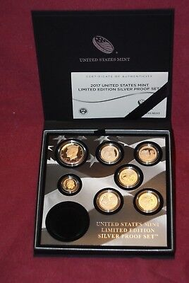 2017 U. S. Mint Silver Limited Edition Proof Set -  17Rc - No Eagle