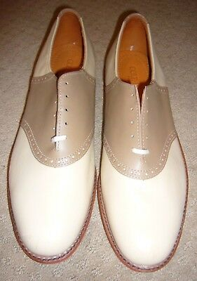 Cole Haan Oxford Mens Shoes Light Brown & Tan Size 12 BRAND NEW PERFECT COND.