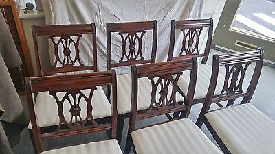Lot of 6 Quality Mid-Century Style Dining Chairs-Mahogany