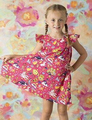 Lisa Frank Dress, girls outfit 2T 3T 4 5 6 7 8 9 rainbow,  unicorn