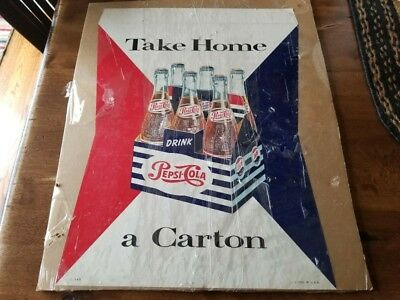 1950s Pepsi Cola Paper Point of Sale Carton Advertising