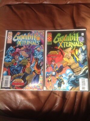 Lot Of 2 Gambit and the X-Ternals May 3, June 4 Marvel Comics Age of Apocalypse