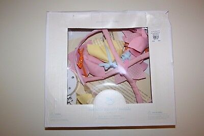 NEW Pottery Barn Kids Girls Nursery Pink Hibiscus Floral Hanging Musical Mobile
