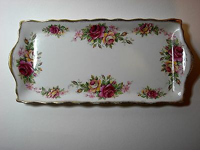 Old Foley Ceramic Tray by James Kent Ltd Garland Rose Pattern