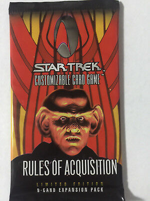 Star Trek Deep Space Nine DS9 RULES OF ACQUISITION CCG Sealed Booster Pack