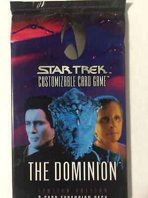 Star Trek Deep Space Nine DS9 THE DOMINION CCG Sealed Booster Pack