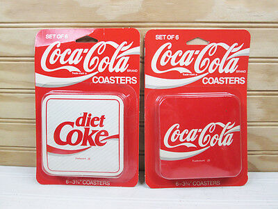 Vintage Coca-Cola Cork Backed Drink Coasters Diet Coke Advertising Set Lot