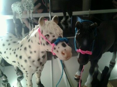 Hand Made Two Tone Rope Halter for Schleich Horses