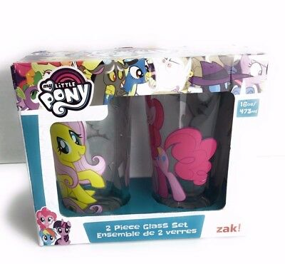 My little pony 16 ounce drinking glasses set of 2 by Zak