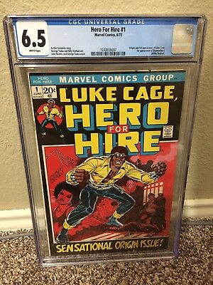 Hero for Hire #1 CGC 6.5 1st Appearance Of Luke Cage! WHITE pages