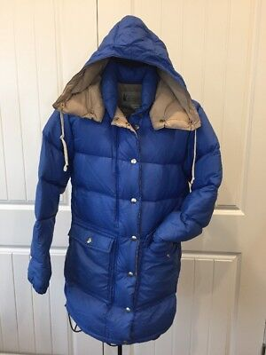 85a353647 1960 REI Goose Down Hooded Long Puffer Jacket Coat M USA Made Vintage Old  Logo