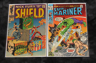 1968 Nick Fury Agent Of Shield 1 Submariner 34 1St Defenders Hulk Silver Surfer