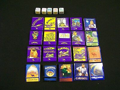 camel match-booklets x 20 and camel dice. 1990's