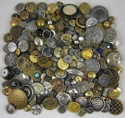 Lg Lot Antique Vintage Buttons~ Victorian-Metal-Picture-RStone-Bone-More! ~ 200+