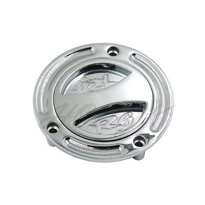 Chrome Keyless Gas Cap Twist Off Fuel Tank Cap For Yamaha YZF R6 (All Years)