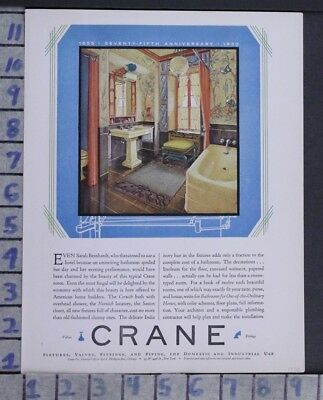 1930 Crane Bathroom Decor Interior Design Vintage Ad  Zj87