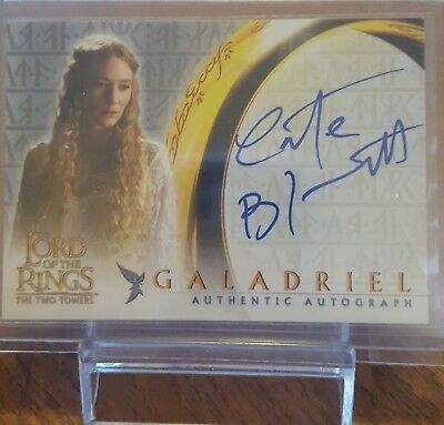 2002 Topps Cate Blanchett Lord of the Rings Signature card.